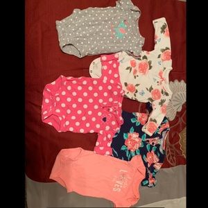 Bundle of Carter's 3 months onesies